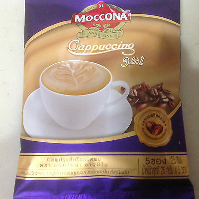 3 In 1 Sachets of Moccona Cappuccino Instant Coffee Trio Freeze dried