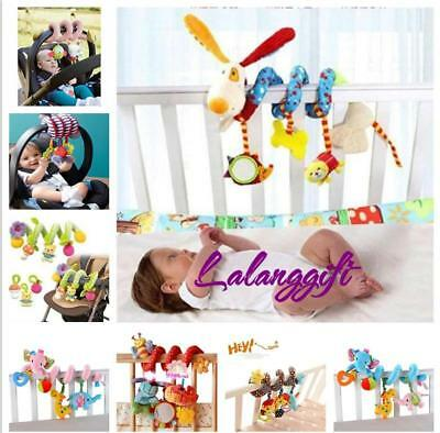 HOT Baby Cot Spiral Activity Hanging Decoration Toys for Cot/Car Seat/Pram Gifts