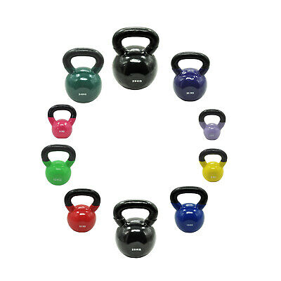56kg Vinyl Iron Cast Kettlebell Weight Set - Russian Style Kettle Weight Set