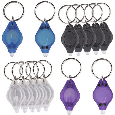 New Portable Mini LED Micro Light Keychain Key Ring Torch Camping Outdoor