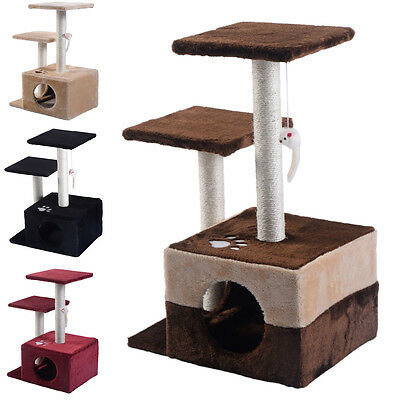 Cat Tree Deluxe Condo Furniture PlayToy Scratch Post Kitten Pet House