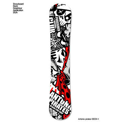 Skin Decal Stickers For Snowboard Deck Tuning Graphicer Antonio-Pirate 7 Designs