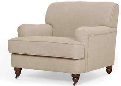 Orson Armchair Biscuit Beige Brand New Boxed