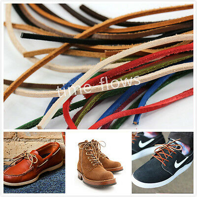 4 Size,One Pair Genuine Rawhide Leather Shoe Hiking Boot Laces Strings Shoelace