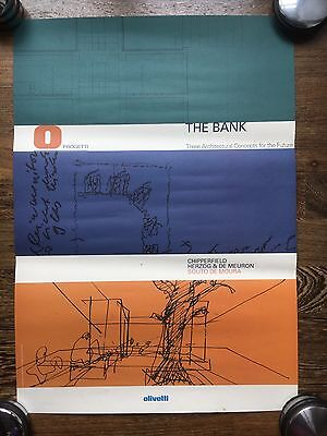 Poster Olivetti The Bank Chipperfield Herzog & De Meuron Souto De Moura - P328