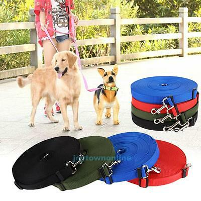 10m 15m 20m 30m 50m Long Dog Pet Puppy Rope Training Lead Leash Chain Sandbeach