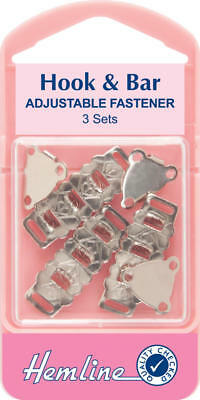 Hook & Bar Adjustable Fastener 3pk