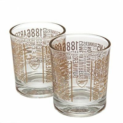 Arsenal F.C. 2pk Whiskey Glass Set TX Official Merchandise NEW