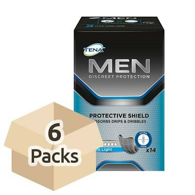 TENA Men Protective Shield - Extra Light - Case Saver - 6 Packs of 14