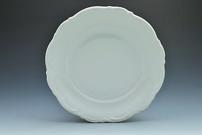 "Mitterteich Baroque Bavaria Germany All White 7.75"" Salad Plate (s)"