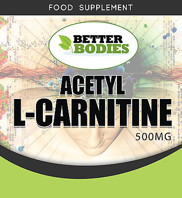 Acetyl L-Carnitine 500mg Packs of  60  120  180  360