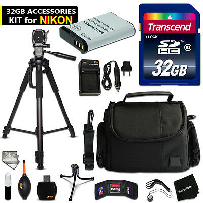 32GB ACCESSORIES Kit for NIKON CoolPix B700 w/ 32GB Memory + Battery +Case +MORE
