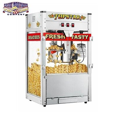 Popcorn Machine with Stainless Steel 1350w 12oz Luxury pipoca Cinema Commercial