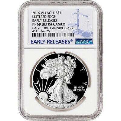 2016-W American Silver Eagle Proof - NGC PF69 UCAM - Early Releases