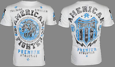 AMERICAN FIGHTER Mens T-Shirt ALABAMA Lion WHITE Athletic Biker Gym MMA UFC $40