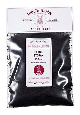 Black Storax Resin - 25g - Indigo Herbs, Quality Assured