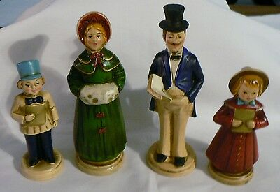 Vintage Set Of 4 Christmas Family Carolers Figurines Statues
