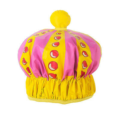 NPW Queen of the Shower Cap - Pink and Yellow Shower cap