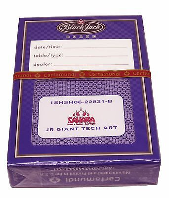 CASINO PLAYING CARDS - SAHARA HOTEL 1 OBSOLETE New PURPLE DECK  FREE SHIPPING *