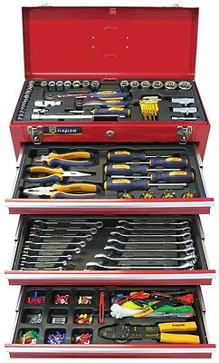 446 Piece Metric Tool Kit In 3 Drawer Lockable Tool Chest