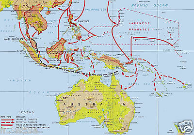 Map-Imperial Japanese Advances in Southwest Pacific and Southeast Asia-1941-1942