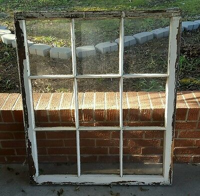 Vintage Sash Antique Wood Window Picture Frame Pinterest 9 Pane Chippy Rustic