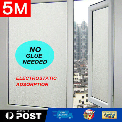 90cm*500cm Sand Blast Clear Privacy Self-adhesive Windows Glass Film Removable