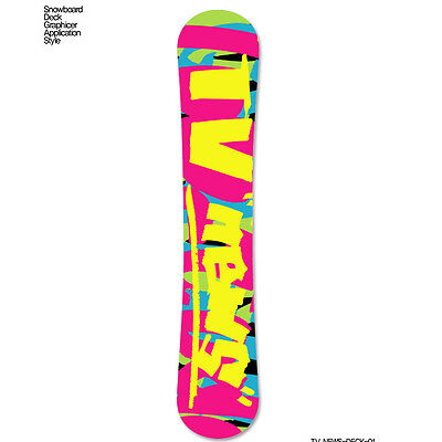 Skin Decal Stickers For Snowboard Deck Tuning Customize Graphicer Design TV News