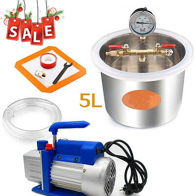 5L Vacuum Chamber Camera Sottovuoto  Resina Perfect for Degassing Silicone Resin