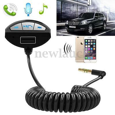 12-24V Car Kit Bluetooth Handsfree MP3 Player 3.5mm Audio Cable USB Charger