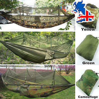 Outdoor Travel Jungle Camping Hammock Garden Hanging Nylon Bed + Mosquito Net