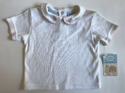 2pc PRECIOUS MOMENTS Top & Pink Denim Overall Pants 3T NWT