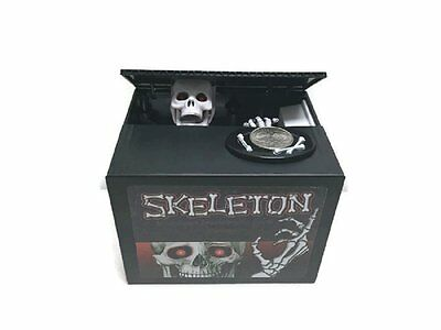 Zombie Skeleton Motorized Coin Bank