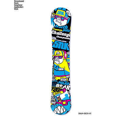 Skin Decal Stickers For Snowboard Deck Tuning Customize Graphicer Design SNUK