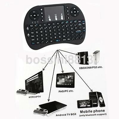 2.4G Mini Wireless Keyboard & Mouse Combo with Touchpad for PC Smart TV Black UK
