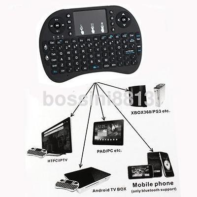 2.4G Mini Wireless Keyboard & Mouse Combo with Touchpad for PC Smart TV Black CA
