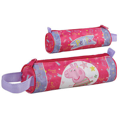 Peppa Pig - Trousse A Stylo Scolaire Ronde - 20 X 6 Cm