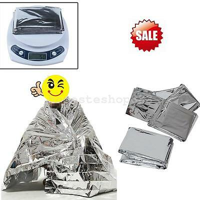 Emergency Gear Survival Warm Blanket Thermal Space Mylar Rescue First Aid Silver