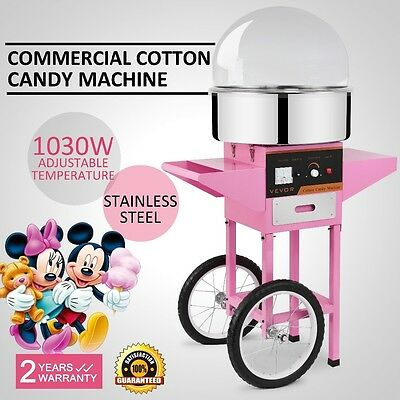 Electric Commercial Cotton Candy Machine / Floss Maker Pink VEVOE Best Price W/C