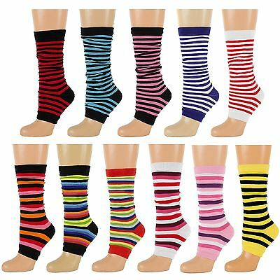 Striped Toeless Socks Leg Warmers