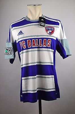 FC Dallas 96 Trikot Away Gr. L / XL Adidas MLS Jersey blau 2012-2013 USA Soccer