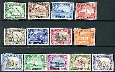 ADEN-1939-48 A lightly mounted mint set ½d to 10r Sg 16-27