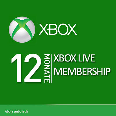 12 Month Xbox Live 1 Year Gold Membership Subscription Card FAST