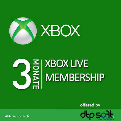 3 Month Xbox Live Xbox for 360 or ONE Gold Membership Subscription Card FAST