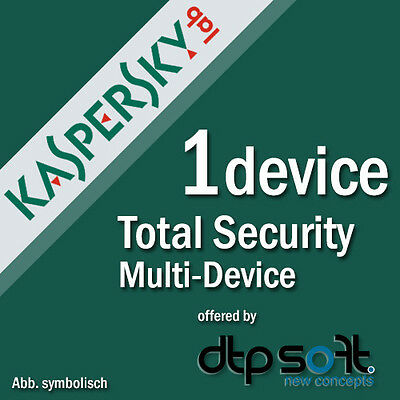 Kaspersky Total Security 1 PC for Version 2017 Internet Security 1 USER PURE