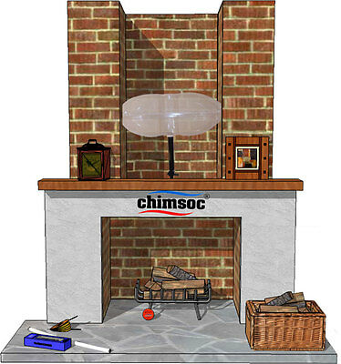"Chimsoc - Large Rectangle - Balloon For Chimney Up To 90cm x 38cm (36""x15"")"