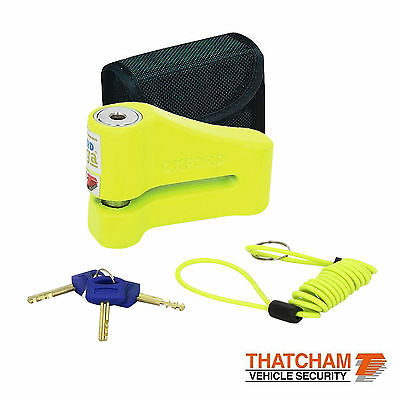 Motorcycle Disc Lock Oxford Omega Thatcham Approved Yellow