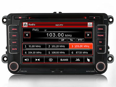 Für VW Passat Caddy Scirocco Touran Sharan Autoradio DVD GPS Navigation RDS USB