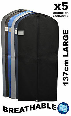"""5x Quality Breathable Dress Prom Suit Covers Clothes  Storage Carrier Bag (54"""")"""