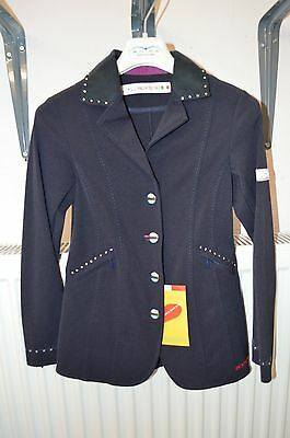 Animo LUX Navy Kids 8 yrs IT8 Show Jacket BNWT Immediate Shipping
